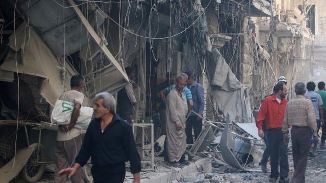 Российская Федерация  опять бомбит Алеппо: 25 погибших, включая детей