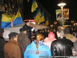 "В Днепропетровске ""титушки"" разгромили евромайдан"
