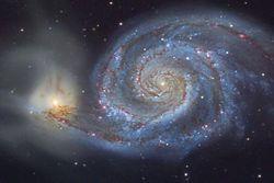 Hubble: удивительные снимки борьбы двух галактик