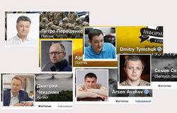 Названы популярные аккаунты политиков и блогеров Украины в Facebook декабря 2015 г.