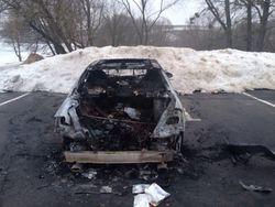 Под Ровно сожгли автомобиль активиста местного Евромайдана, экс-зятя Ющенко