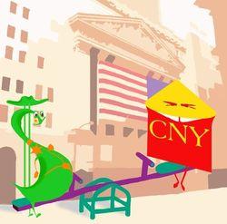 Курс доллара США растёт к юаню