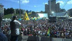 Вече на Майдане: Это последнее мирное предупреждение Президенту