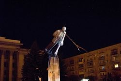 """Ночью в Украине прошел очередной """"ленинопад"""""""
