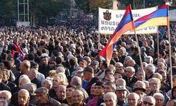 В Армении оппозиция провела многотысячный митинг