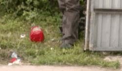 Неразорвавшееся СВУ у гаража Вишернева