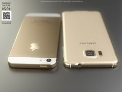Samsung GALAXY Alpha стал двойником Apple iPhone 6