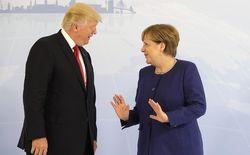 Дональд Трамп и Ангела Меркель  в Гамбурге