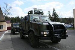 Пограничники испытали бронированный автомобиль «Козак-2»