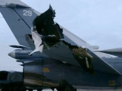 Поврежденный неделю назад российский самолет