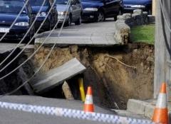 В яму с кипятком провалилась петербургская маршрутка