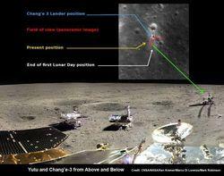 Зонд NASA LRO сделал новые снимки лунохода Китая на поверхности Луны