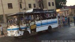 В Самарканде загорелся пассажирский автобус ISUZU