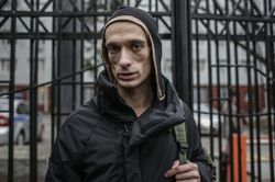 Российский художник-акционист Павленский выступил с лекцией в Киеве