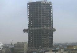В Германии рухнул 116-метровый небоскреб – все под контролем