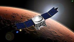 Орбитальный зонд MAVEN зашел в плотные слои атмосферы Марса