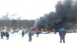 На месте падения Ан-148 в Подмосковье