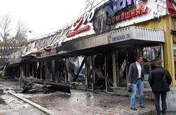 Ночью в Симферополе полностью сгорел супермаркет - убытки