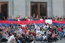 В Ереване продолжается митинг против повышения тарифов