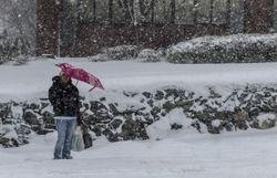 Снегопад в Нью-Йорке сменился сильной грозой