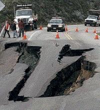 обрушение дороги