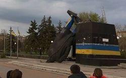 В Краматорске бойцы АТО не дали жителям снести памятник Ленину