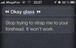 Apple научила свою голосовую помощницу Siri насмехаться над Google Glass