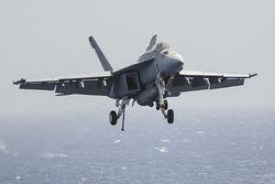 У берегов США упал в океан истребитель F/A-18E Super Hornet