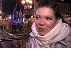 Руслана на ночном Евромайдане