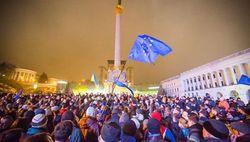 Украина: на Евромайдане хотят установить мировой рекорд во время пения гимна