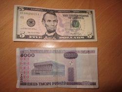 Белорусский рубль повысился к тенге и гривне, но упал к евро и рублю