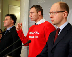 Лидеры оппозиции сегодня встречаются с Януковичем – Яценюк