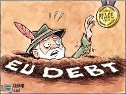 Евро под давлением новостей из Греции и Франции
