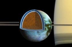 Ученые обнаружили на спутнике Сатурна огромное море