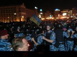 Бойцы Беркута попытались разогнать людей на Европейской площади