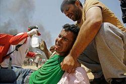 Раненые палестинцы
