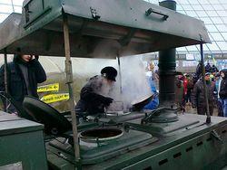 Майдан остался без снабжения - нет продуктов и дров