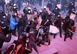 Противостояние в центре Киева 19 января
