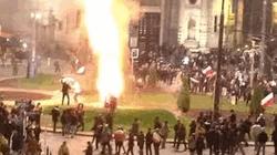Марш независимости ознаменовался поджогами