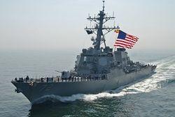 Военный корабль США обстрелял группу иранских катеров