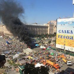 Началась зачистка Майдана и Михайловской площади в Киеве