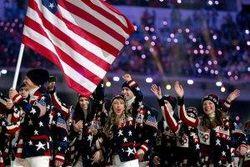 Делегация США на параде открытия Сочи-2014