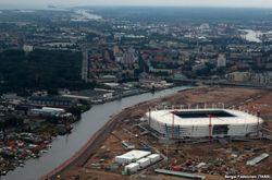 Строящийся стадион в Калининграде