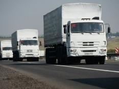 Часть «КамАЗов» с гумпомощью уже покидают Украину