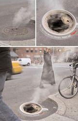 В столице Украины канализационные люки станут рекламными площадками