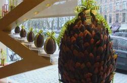 Уникальное пасхальное яйцо из шоколада сделали в Бельгии
