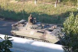 Со стороны РФ на Луганщину въехали бандиты на танках и БТРах