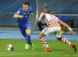 В понедельник Украина принимает Хорватию