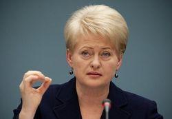 Агрессия РФ дальше Украины не зайдет – Грибаускайте