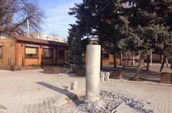 Под Запорожьем снесли памятник Шевченко
